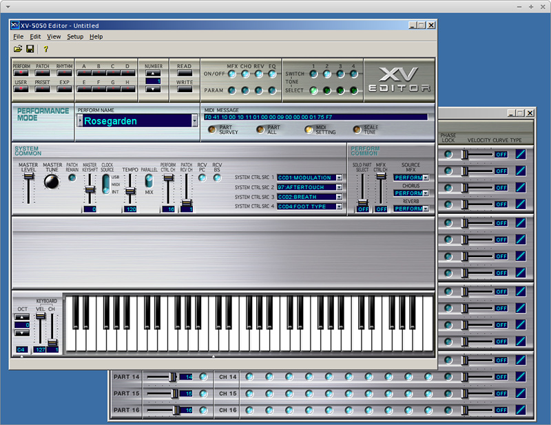 XV-5050 Editor